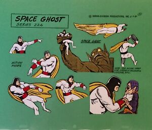 Hanna Barbera:Space Ghost Series 226 Action Pose Original Model Cel