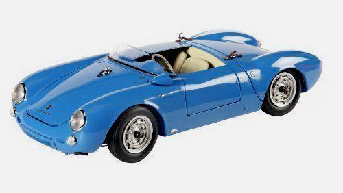 Wonderful  modelcar SCHUCO-PORSCHE 550 SPYDER 1955 - blu -  - ltd.ed.