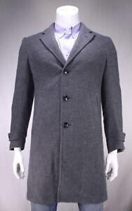 Ermenegildo-Zegna-Current-Gray-Knit-Yarn-Cashmere-Silk-3-4-Length-Overcoat-38R