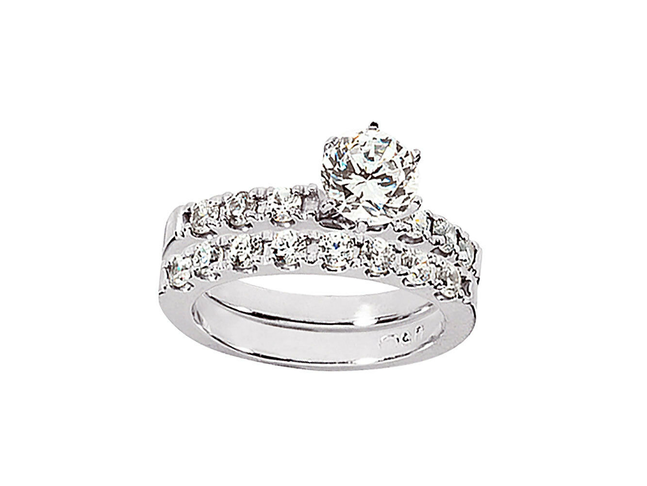 Genuine 1.00Ct Round Cut Diamond Engagement Ring Set Solid 10k gold GH I1
