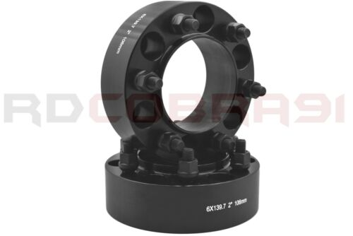 "12x1.5 Black Mag Lug Nuts BOLT-KIT Toyota 6x5.5/"" 2/"" Hub Centric Wheel Spacers"