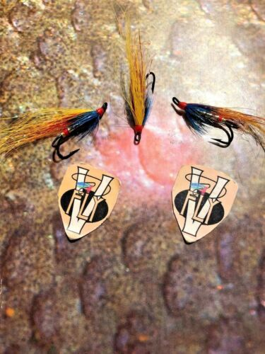 3 V Fly Size 8 Ultimate Gold Garry Dog Double Salmon Flies
