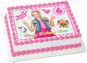 Details about Jojo Siwa Edible Wafer Paper Sheet Cake Topper Birthday Party Decoration 8x10.5