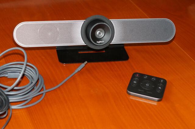 Logitech MeetUp 4K 120° Videokonferenz Kamera (960-001102)USB Kabel und Fernbedi