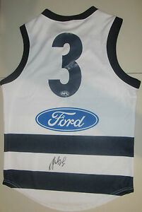 GEELONG-JIMMY-BARTEL-HAND-SIGNED-BACK-OF-JERSEY-3-PHOTO-PROOF-COA