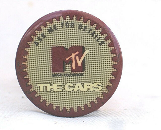 MTV The Cars  - Vintage 1980's Pin Back