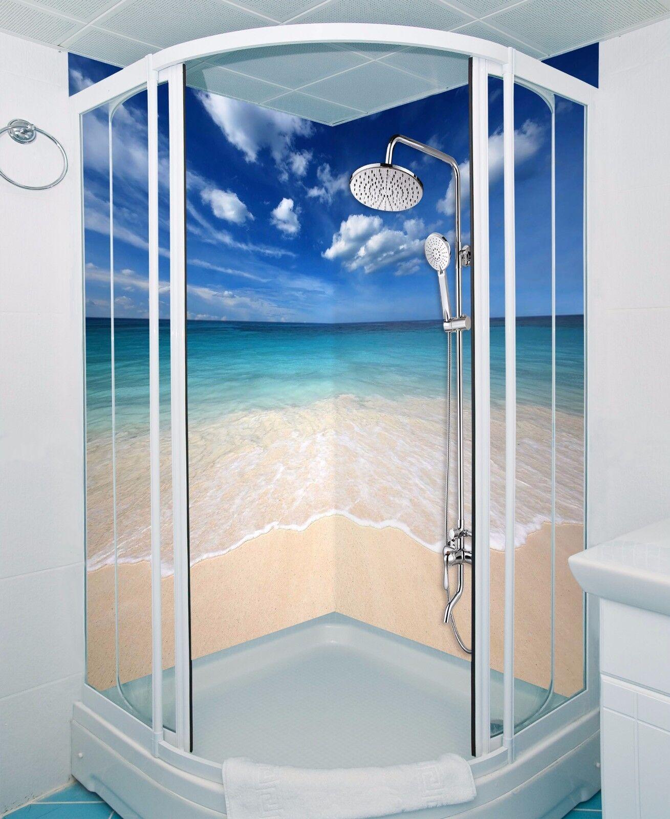 3D bluee sky beach 539 WallPaper Bathroom Print Decal Wall Deco AJ WALLPAPER UK