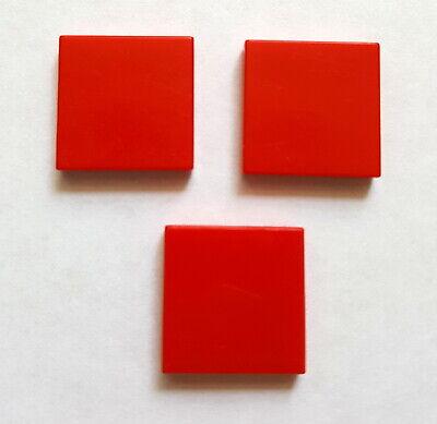 Lego 3068 Kachel Fliese Platte Systemstein 2x2 Glatt 3 Stück Rot 29A