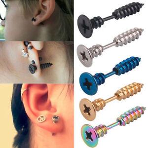 1pair-Unisex-Mens-Womens-Punk-Stainless-Steel-Cool-Whole-Screw-Ear-stud-Earrings