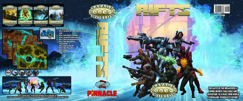 Savage Worlds Rifts® Collector's Box Set (Pinnacle Entertainment Group)