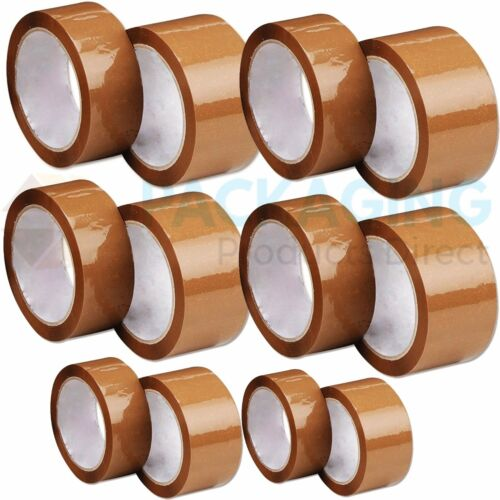 6 ROLLS OF 48mm x 66m BROWN PACKAGING TAPE*DISCOUNTED* HDPE MATERIAL
