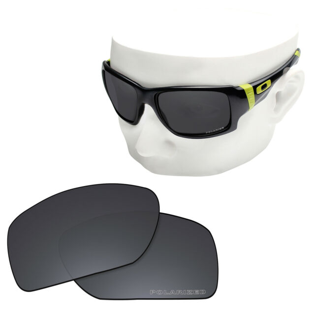 7dc820df7c9 OOWLIT Replacement Sunglass Lenses for-Oakley Big Taco POLARIZED - Stealth  Black