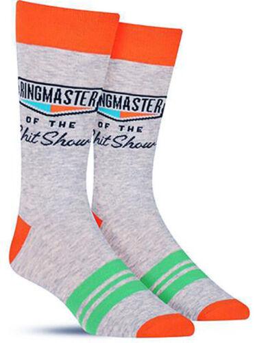 T Show-MEN /'S Crew Socks Blue Q Maleducati Divertenti Novità Regalo Maestro della campanella della SH
