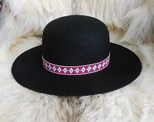 OLD OJIBWA Traditional Handloomed Beaded Hatband/Indian Joe Hat
