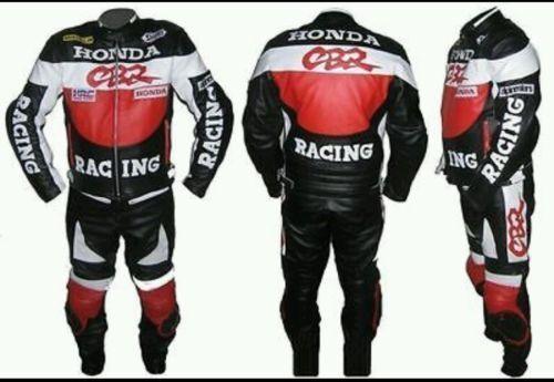 Men/'s Leather Motorbike Replica Honda CBR Suit for Motorcycle ride