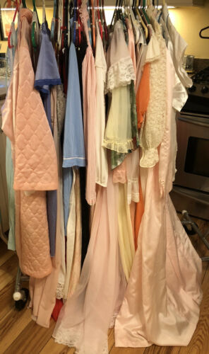 Large Lot of 60+ Vintage 60s - now Nightgowns Robe