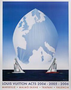 Original Louis Vuitton Acts Poster-RAID-Marseille-Spinaker - Voile 2006