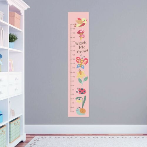Personalised Girls Ladybug Butterfly Height Growth Chart 8 Vinyl Wall Stickers