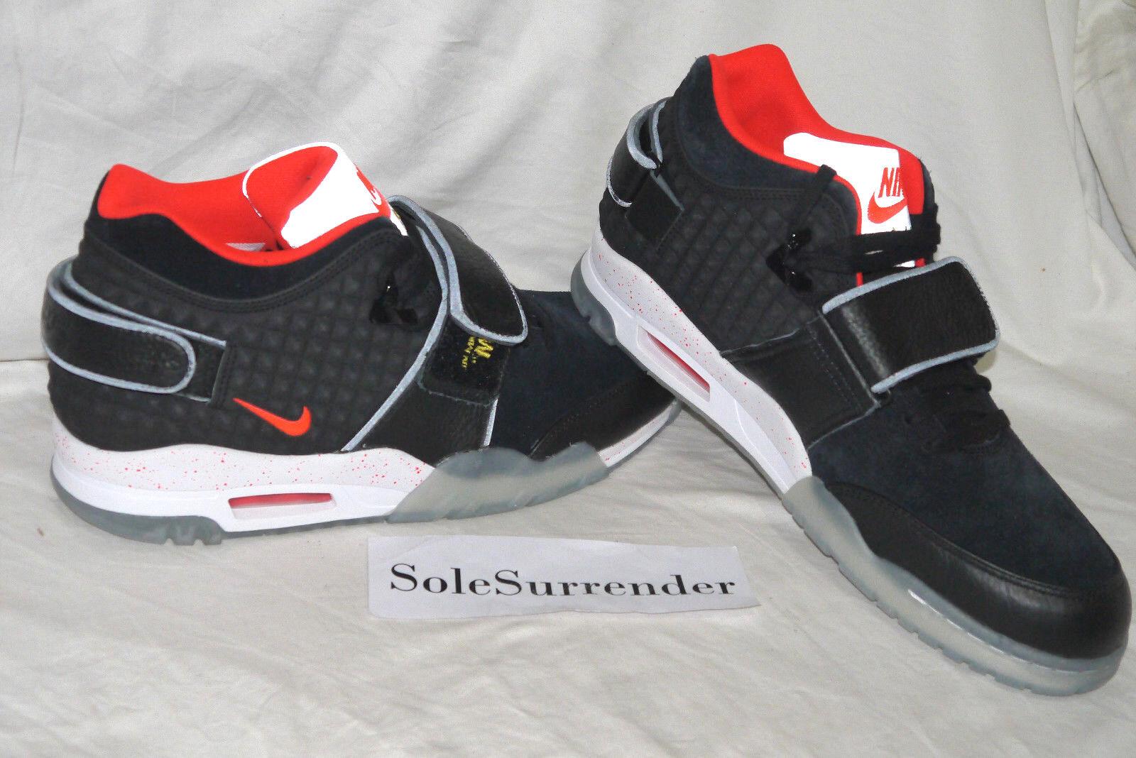 Nike Air - Trainer Victor Cruz QS - Air SIZE 9.5 - NEW - 821955-001 Black Crimson Red c4872d