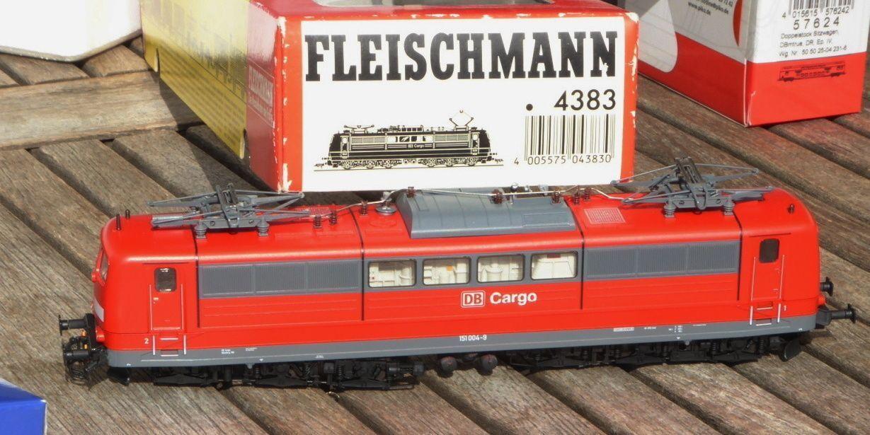 Fleischmann Fleischmann Fleischmann 4383 E-Lok BR 151 004-9 DB CARGO ep.5/6 Lok del COT. Norimberga, molto bene f3ddb9