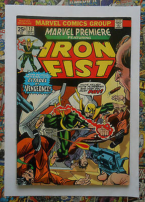 MARVEL PREMIERE #17 - SEP 1974 - 1st TRIPLE-IRON - VFN (8.0) MARK JEWELER INSERT