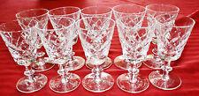 SET OF 10 EDINBURGH CRYSTAL CORDIAL GLASSES – WINDSOR PATTERN