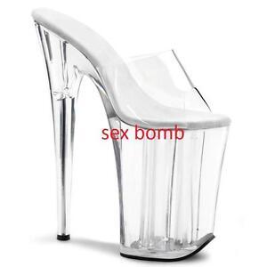 Dal Al Sandali Sexy Fashion Cm 23 Plateau Glamour Trasparenti 39 35 Tacco FFAx7q