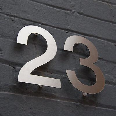 Designer Stainless Steel House Door Numbers Helvetica Large Architect