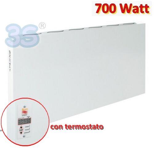 TERMOSTATO 3S PANNELLO CONVETTORE ELETTRICO RADIANTE RAGGI INFRAROSSI 700 WATT