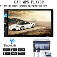 """Double 2 Din 7"""" In Dash Stereo Car MP5 Player Bluetooth Radio iPod FM/SD/USB TV"""