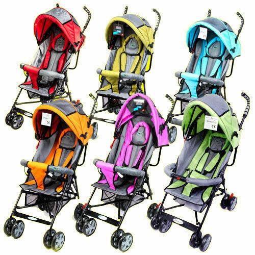 Babystar Baby Stroller Buggy Pram Pushchair Lightweight Raincover Footmuff
