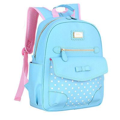 Kids Pupil School Bags Shoulder Backpack Bowknot  Bookbags Handbags Girls Gift