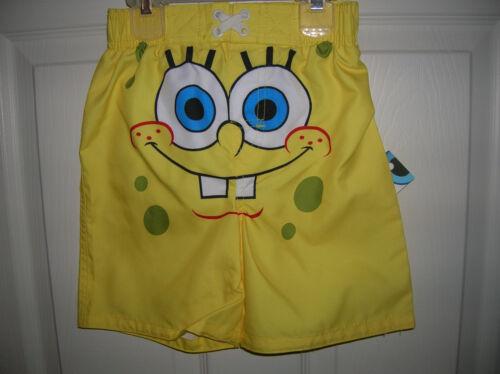 T23 4T, 3T, 2T Toddler Boy Swimsuit Spongebob Shorts Swim Trunks