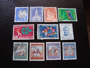 Switzerland-Stamp-Yvert-and-Tellier-N-763-A-773-Obl-A2-Stamp-Switzerland-E