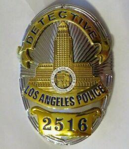 Movie Badge  L A P D   Police  DETECTIVE # 2516  Polizei Abzeichen Marke USA