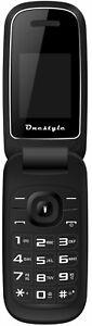 Onestyle-Shell-dual-SIM-pliante-portable-simple-pas-cher-elegant-noir-sans-fer