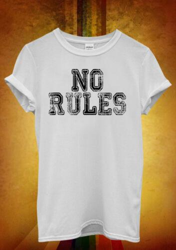 Pas de règles rude frais drôle Hipster Hommes Femmes Unisexe T shirt débardeur débardeur 637
