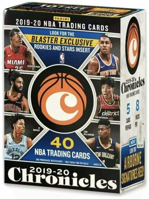 2019-20 Panini CHRONICLES Basketball NBA Blaster Box - 40 Cards - Zion Ja Coby