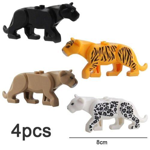Animal Building Blocks Brick Tiger Dinosaur Elk Wolf Horse Mini Figure Gift Toy