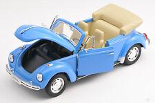 BLITZ VERSAND VW Beetle Cabrio blau / blue 1:24 Welly Modell Auto NEU & OVP 091