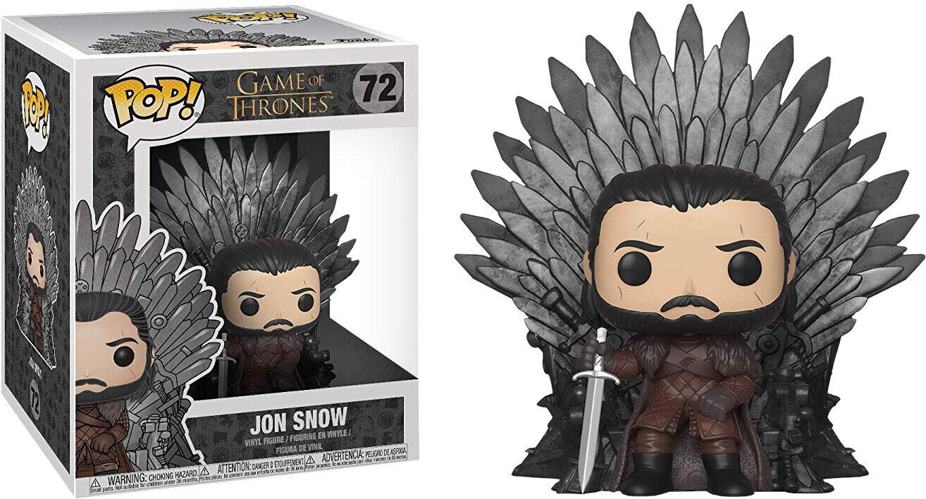 Game Game Game of Thrones - Jon Snow on Iron Throne Deluxe Pop  Vinyl Figure 375f89