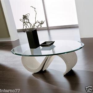 Mara tavolino moderno da salotto in mineral marmo con piano in vetro ta126 ebay - Tavolino divano moderno ...