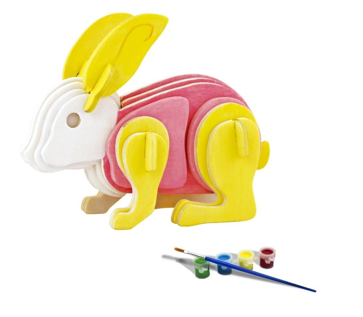 Build And Paint Wooden Puzzle Rabbit Beehive Craft Toy 3D 3D 3D 5faef2