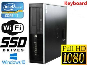 Gaming Pc Desktop Hp 8300 Sff I7 16gb 128gb Ssd 1tb Hd6450 Win10 Wifi Kb Ebay
