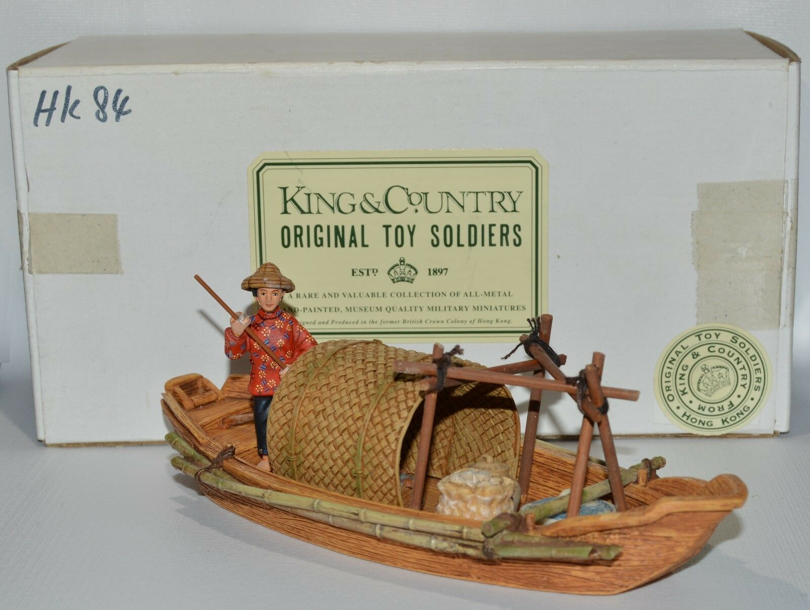 King & Country Country Country Streets of Old Hong Kong  HK084 Sampan Set   AA-9545 1e8729