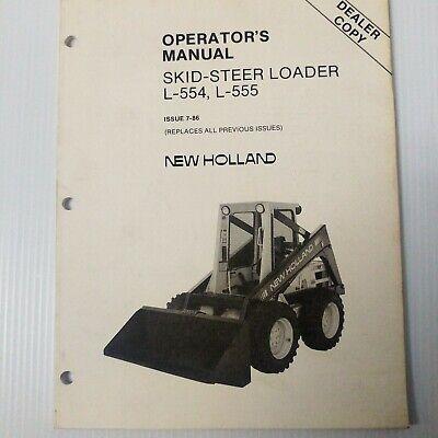 Ford Nh L553 L554 L555 L555 Deluxe Skid Steer Loader Service Repair Manual
