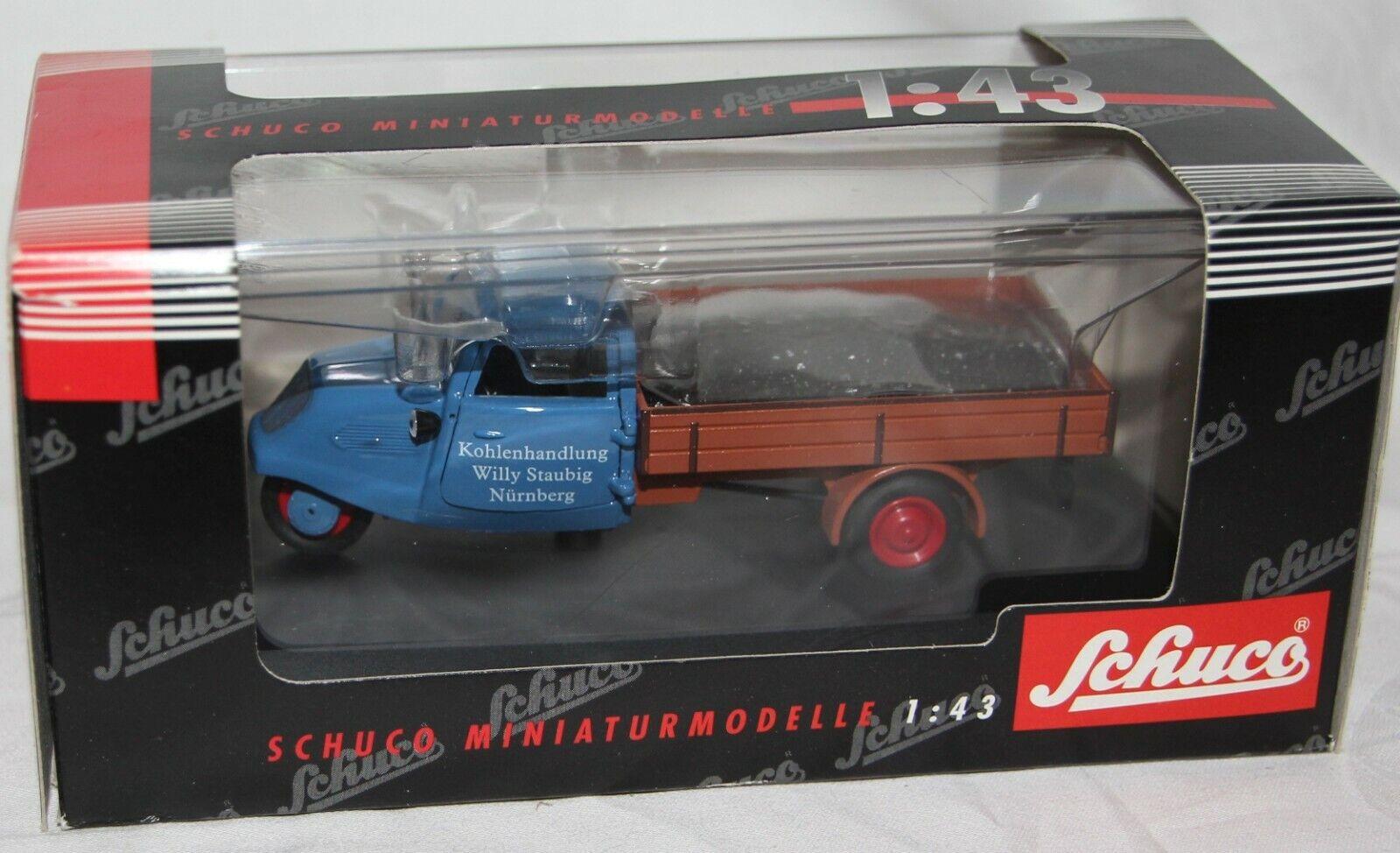 Schuco 1:43 MODELLO in METALLO -02112 - ritmo Branda carro carbone commercio-NUOVO