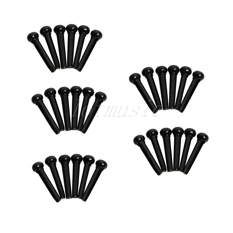 30 pcs acoustic guitar bridge pins black guitar parts