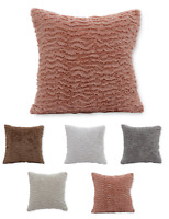 Cozy Faux Fur Decorative Throw Pillows - Assorted Colors