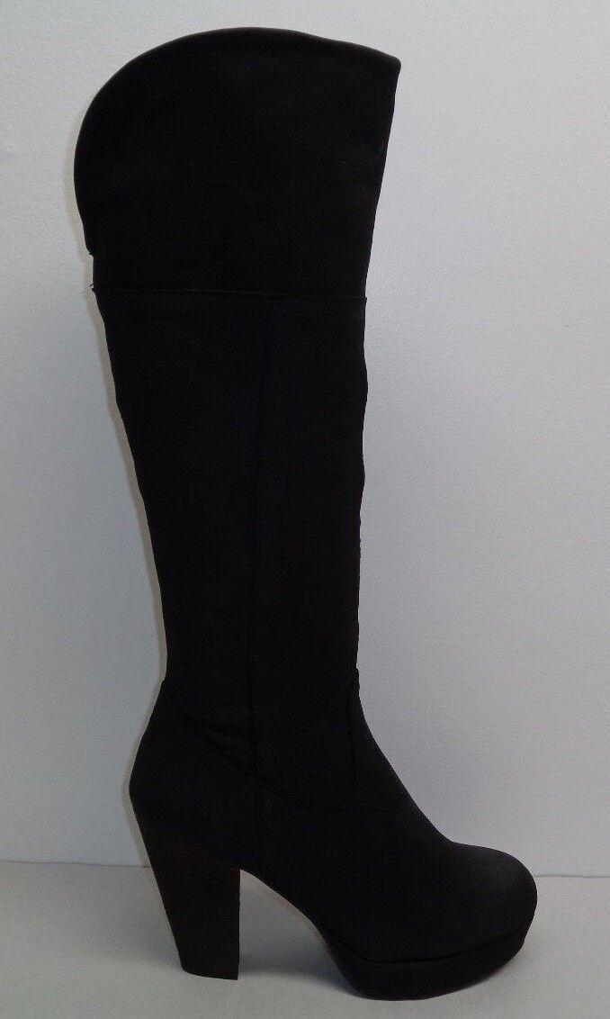 Steve Madden Size 10 M RACKEY Black Leather Platform Heel Boots New Womens shoes